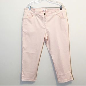 Chico's Cropped Capri Jeans Pale Pink NWOT